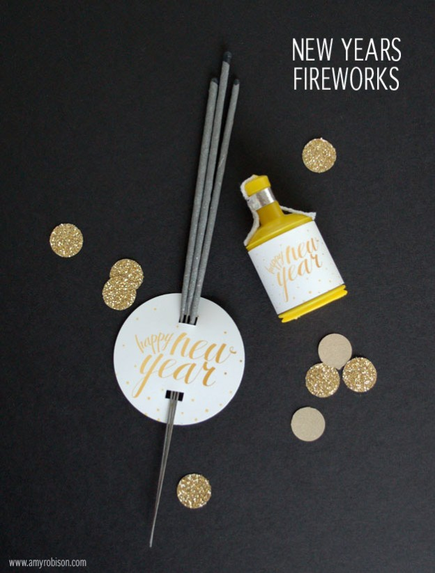 Ring in the new year with this free new years fireworks printable. Click here to download.